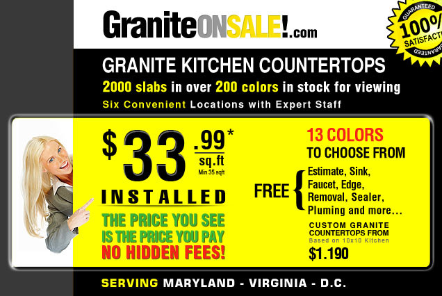 granite countertops sale VA, MD, DC